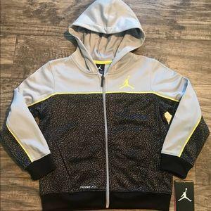 NWT Boys Nike Air Jordan Therma-Fit Hoodie Jacket
